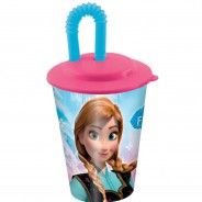 Kozarček XL s slamico Frozen (1)