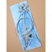 Set Tiara in čarobna palica modra