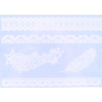 Shimmer lace tattoo White Feather Lace - NOVO