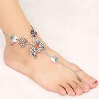 Anklet Chain Vintage srebrna