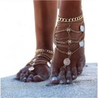 Anklet Chain Boho 1 zlata