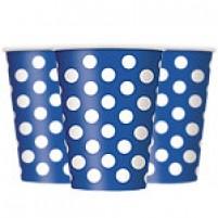 Kozarčki Polka Dot Modri (8)