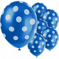 Baloni Polka Dot Modri (6)