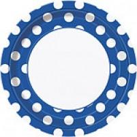Krožniki Polka Dot Modri (8)