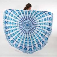 Okrogla brisača 180*180cm Oblivion Sapphire