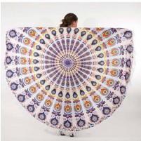 Okrogla brisača 180*180cm Oblivion Azure