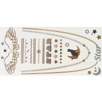Shimmer tattoo CAT STAR midi