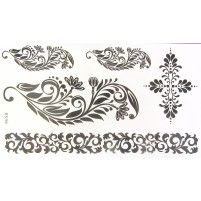 Temporary tattoo ORNATE BLACK
