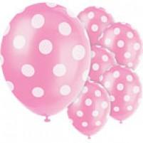 Baloni Polka Dot Roza (6)