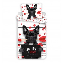Posteljnina Dog Guilty of Love (po naročilu, 4-8 dni)