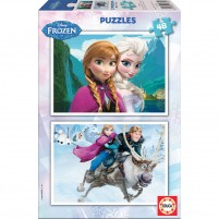 Sestavljanka Frozen (2×48 kosov)