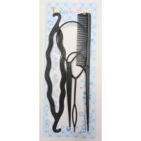 Komplet za oblikovanje las, 4 kosi