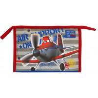 Toaletna torbica Avioni večja modra